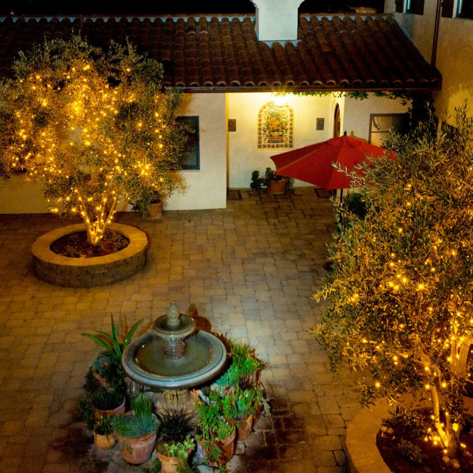 Boutique Inn Terrace tree lighting landscape lighting home backyard