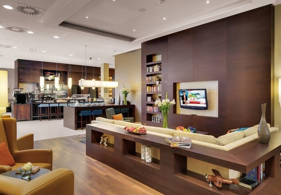 property Lobby living room home recreation room Boutique condominium retail Modern Island