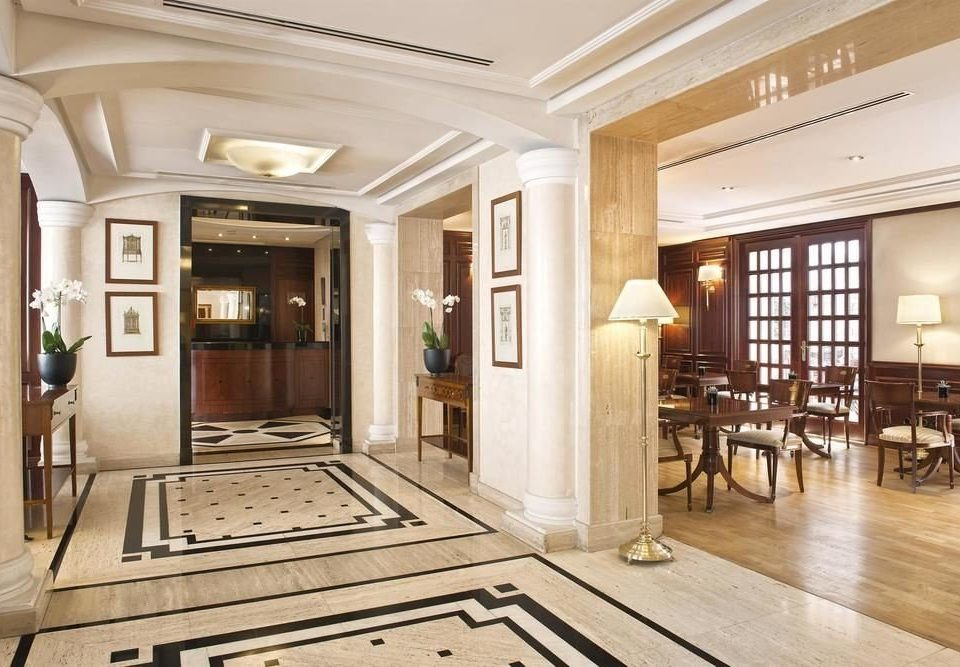 Lobby property building home condominium mansion Boutique living room flooring hall