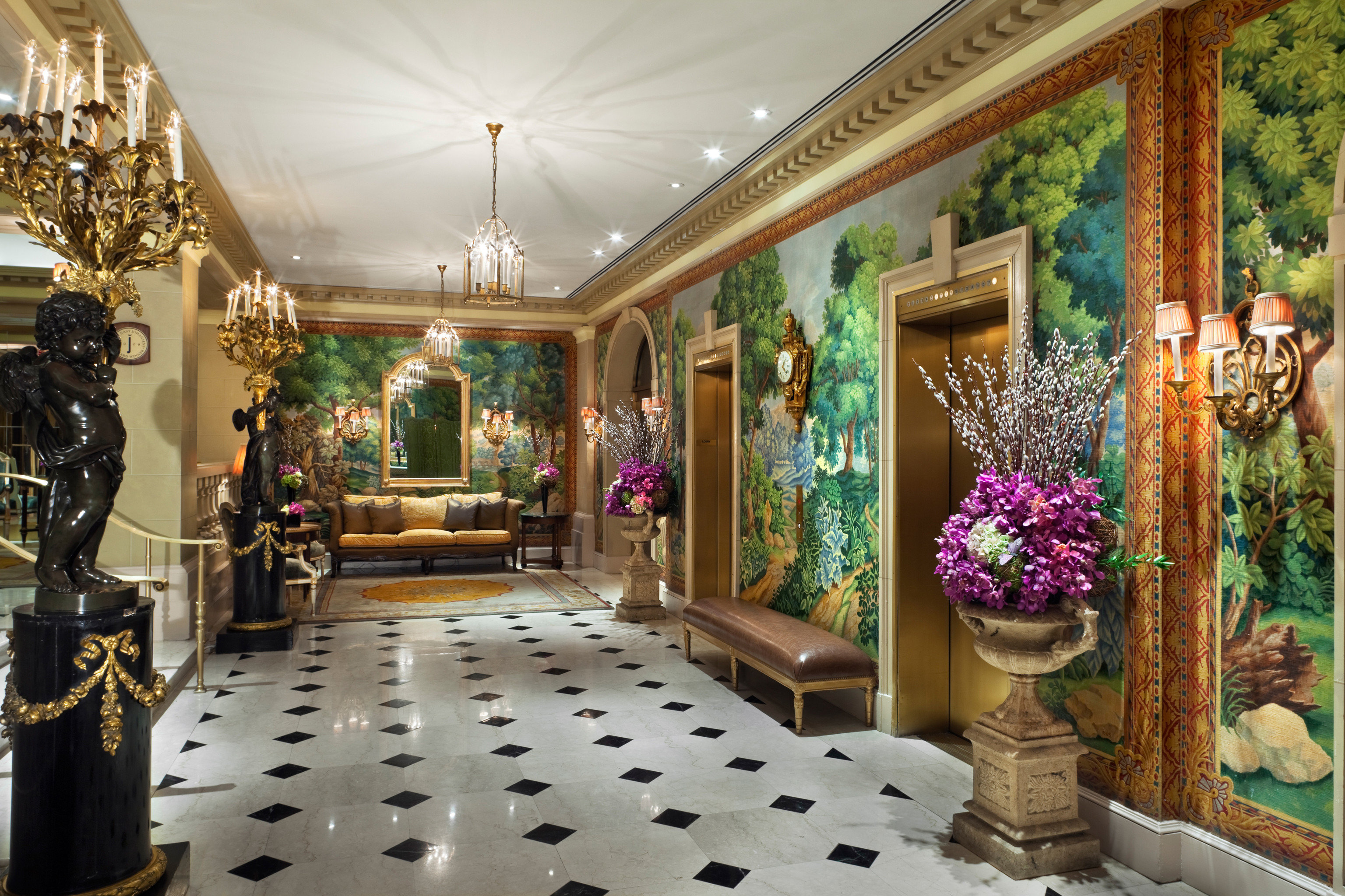 Boutique Lobby retail floristry display window palace mansion