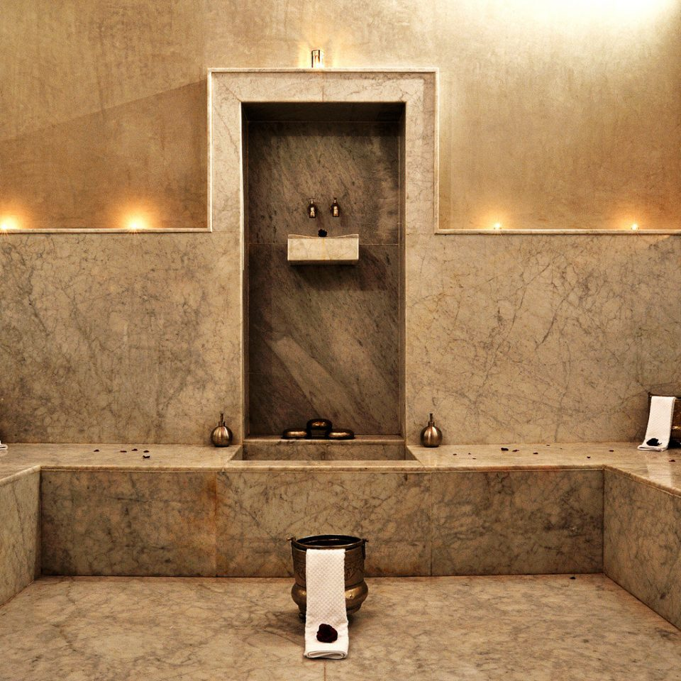 Boutique Luxury Spa Wellness sink bathroom home plumbing fixture flooring counter tile toilet tan