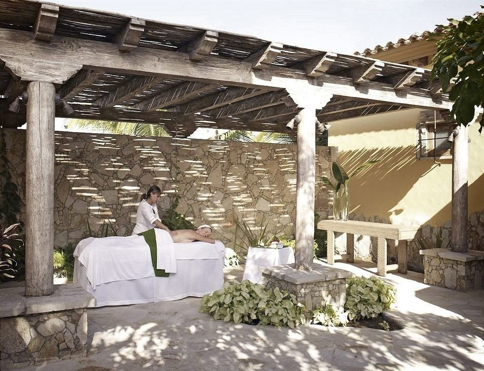 Boutique Modern Spa Tropical Wellness building property pergola outdoor structure hacienda backyard Villa
