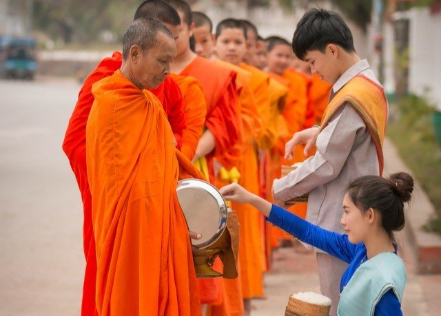 boy dancer child monk orange young temple profession