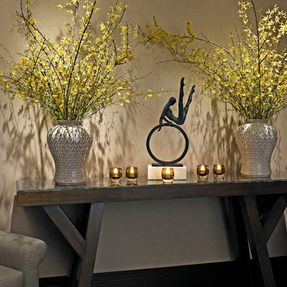 flower yellow modern art lighting living room floristry plant wallpaper branch dining table