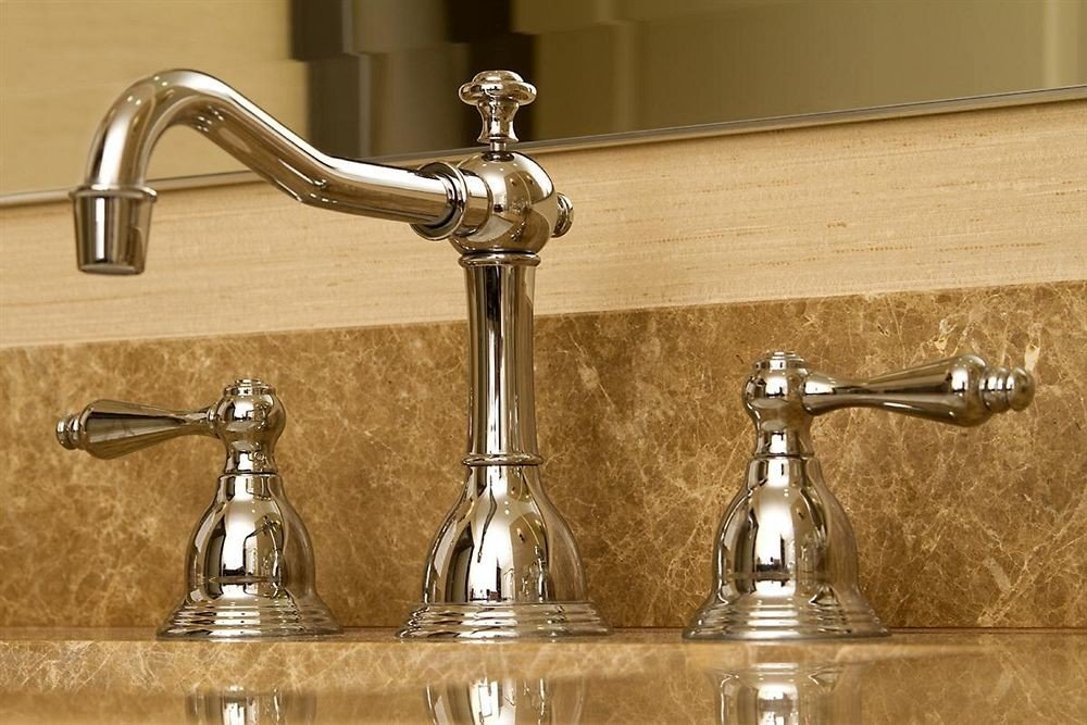 sink plumbing fixture tap brass metal material counter