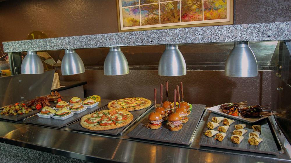 food plate buffet counter breakfast brunch restaurant tray cuisine pan