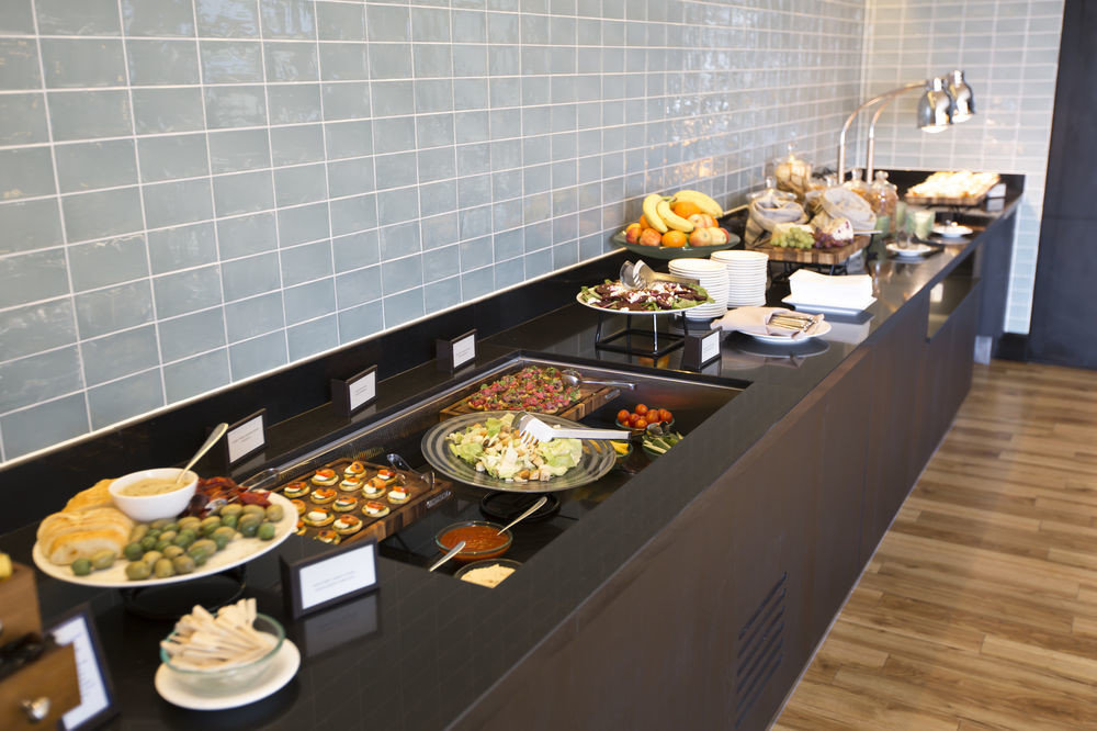 buffet food cuisine counter breakfast brunch