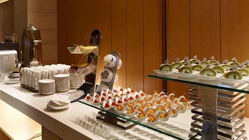 buffet food brunch counter breakfast restaurant dining table