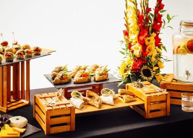 buffet brunch food floristry breakfast sense fast food dining table