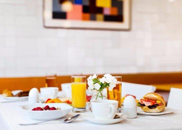 restaurant lunch brunch breakfast orange food cuisine dining table