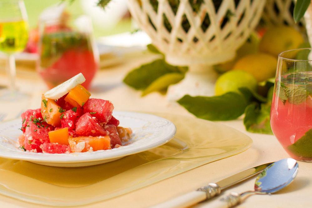 food plate plant fruit land plant salad cuisine vegetable breakfast melon flowering plant brunch strawberry piece de resistance