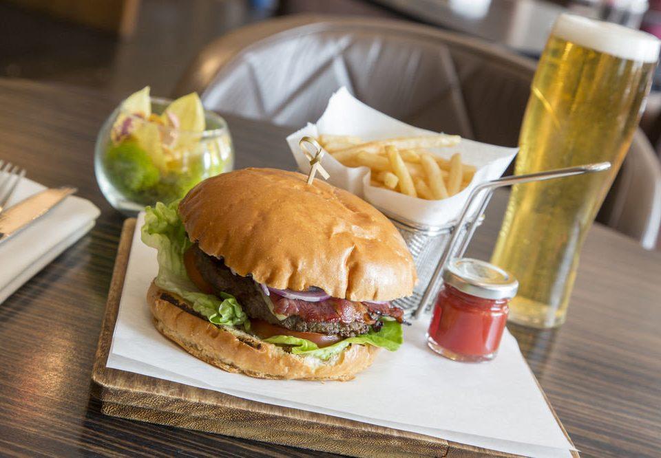 food sandwich snack food hamburger lunch restaurant fast food wooden meat breakfast slider brunch