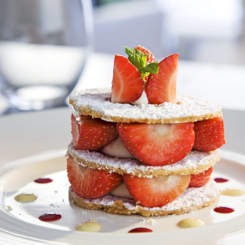 plate cake car food strawberry strawberries slice piece plant white fruit dessert breakfast flowering plant sliced