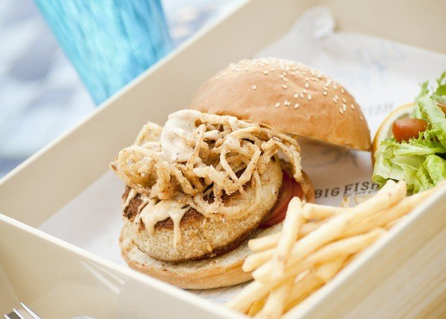 food sandwich lunch fries meat pulled pork hamburger container cuisine fast food breakfast snack food close