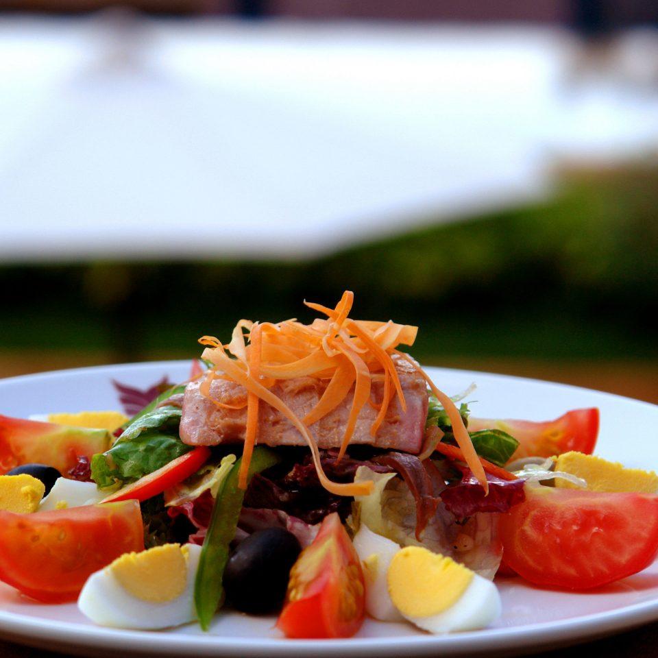 plate food salad cuisine lunch white restaurant breakfast vegetable piece de resistance