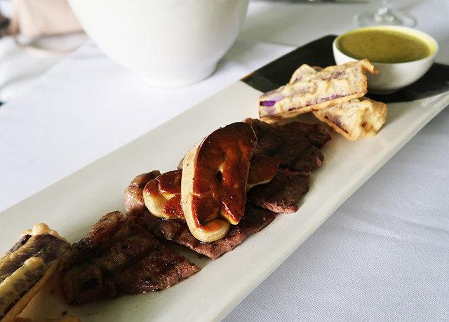 plate food meat cuisine lunch breakfast restaurant steak sense piece de resistance
