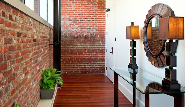 brick home flooring hardwood