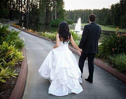 tree ground bride woman wedding dress dress groom ceremony bridal clothing gown wedding quinceañera floristry