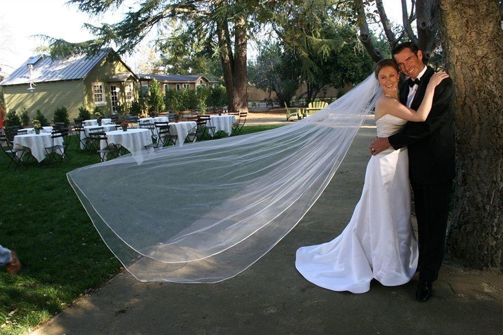 tree grass bride wedding ceremony groom dress gown veil posing