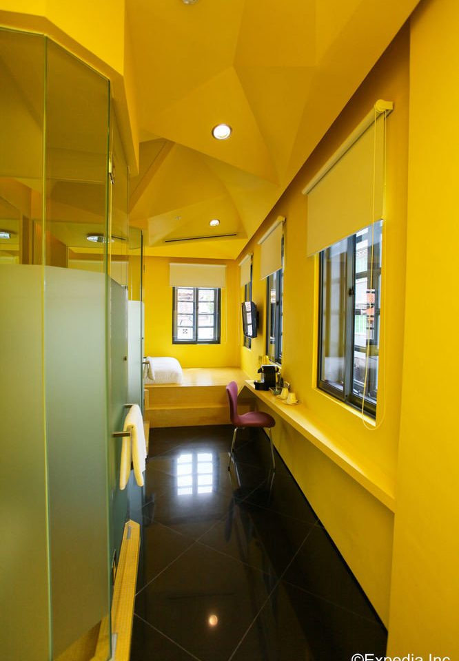 yellow property house home condominium living room office bright subway