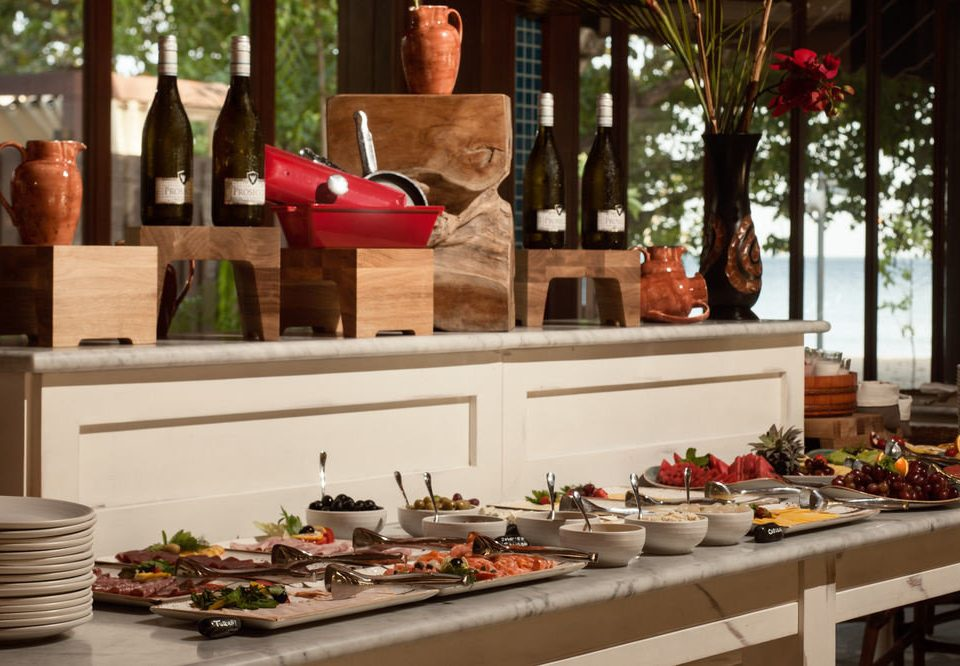 food plate floristry brunch buffet counter
