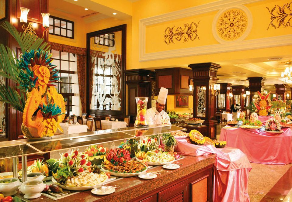 buffet floristry counter brunch restaurant function hall