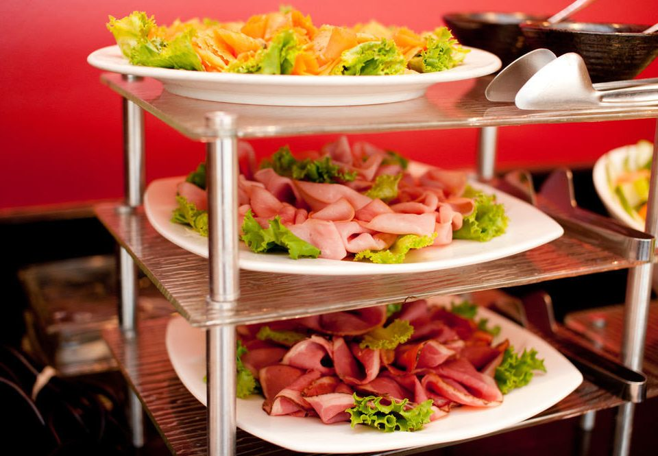 food plate buffet cuisine hors d oeuvre lunch brunch supper restaurant dinner hot pot meat dining table