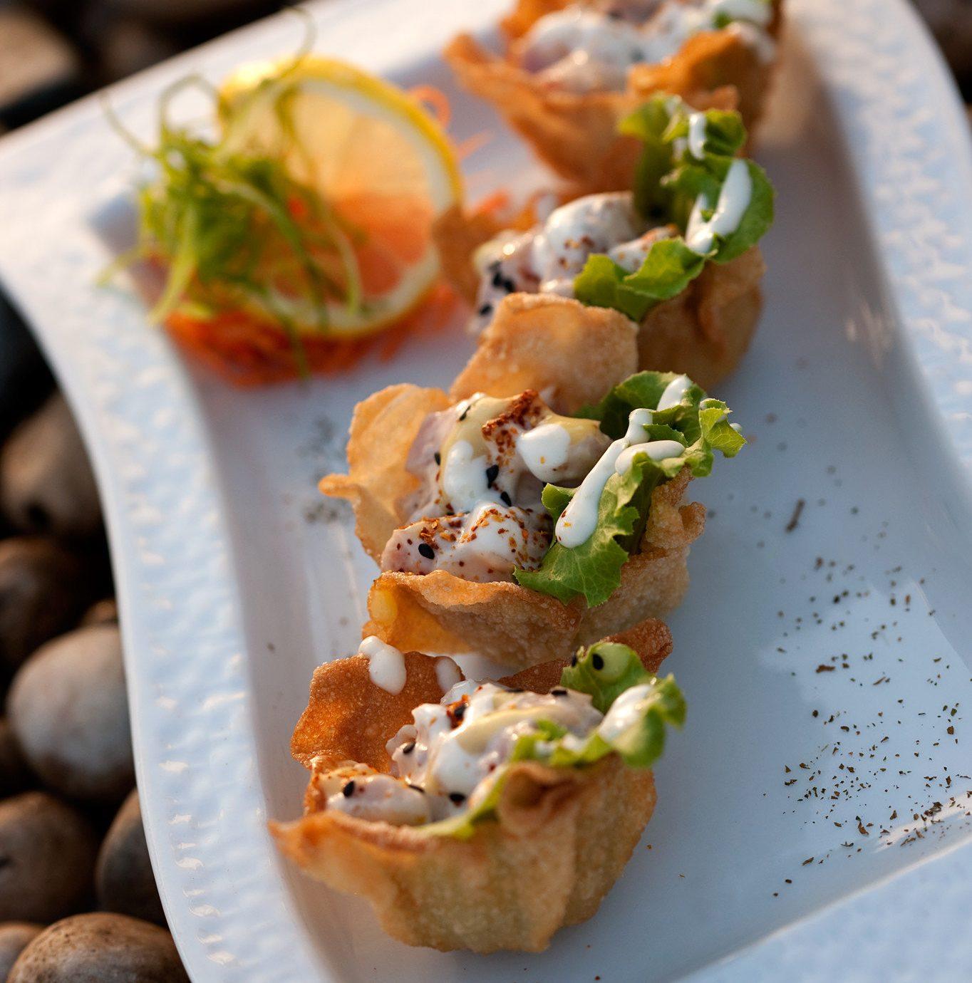 food plate bruschetta cuisine vegetable meat