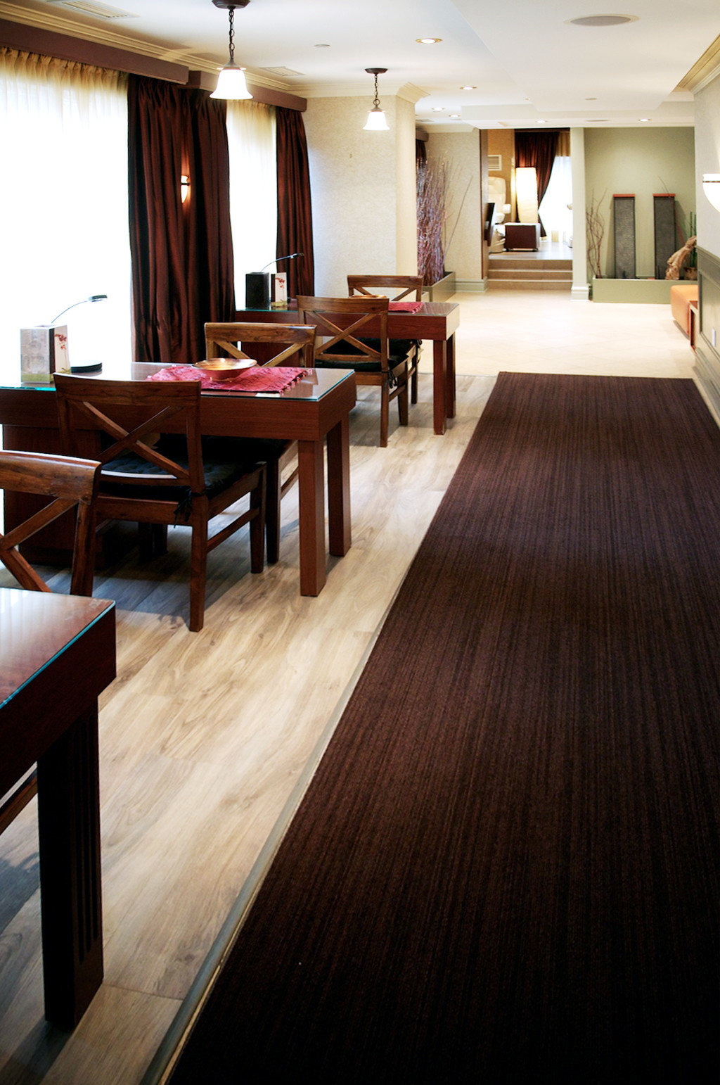 Budget City Dining Drink Eat Modern flooring hardwood wood flooring recreation room laminate flooring