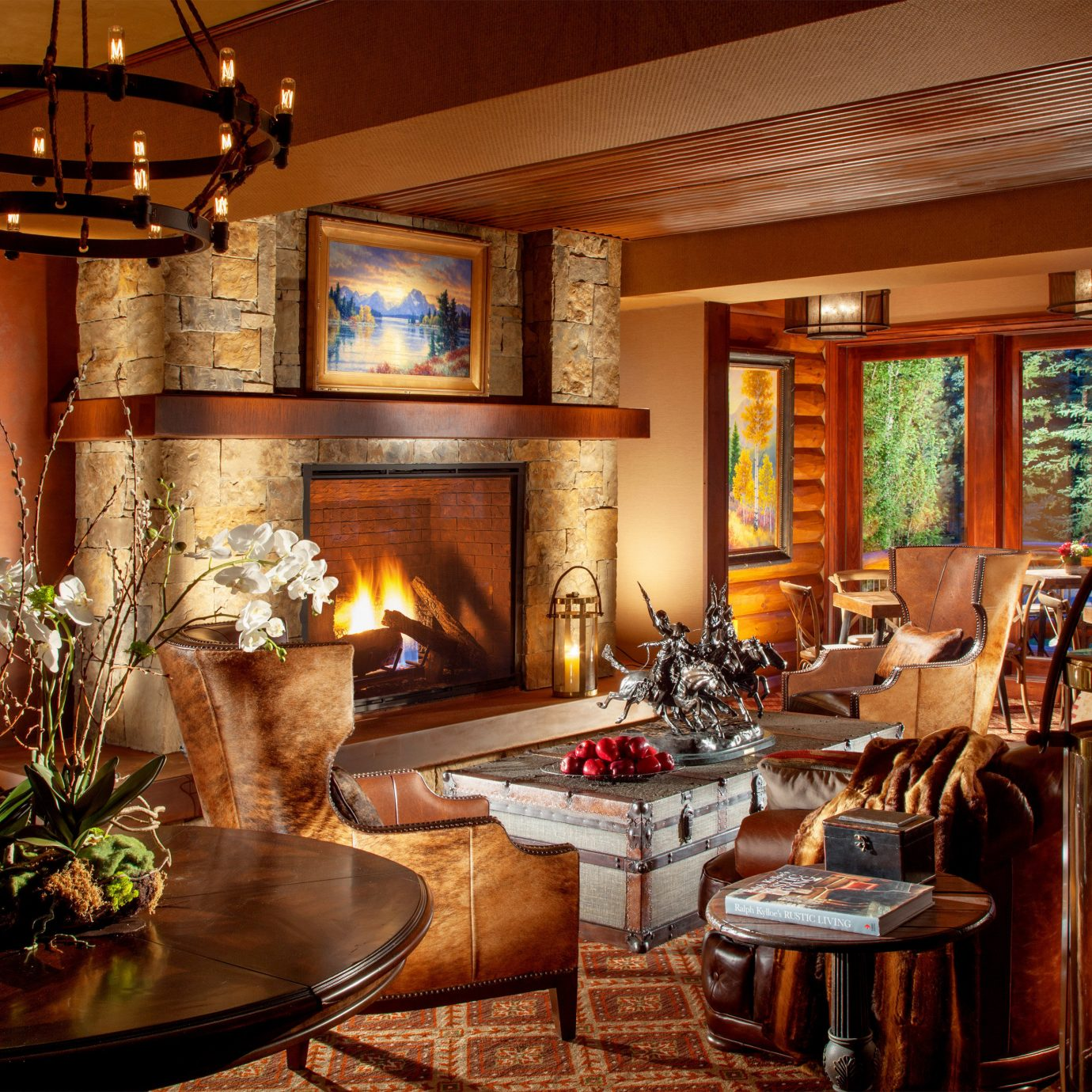 Budget Country Family Fireplace Lobby Lodge Lounge property home living room mansion recreation room cottage