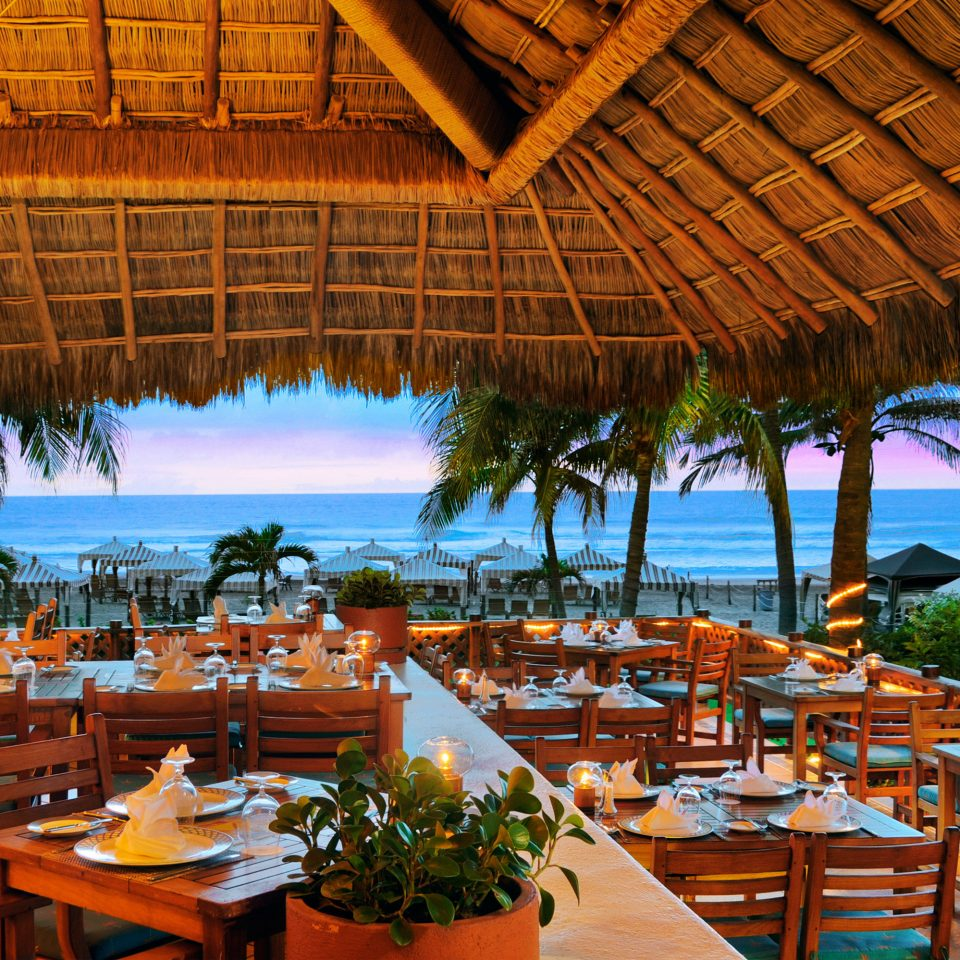 Budget umbrella chair Resort restaurant Dining caribbean set