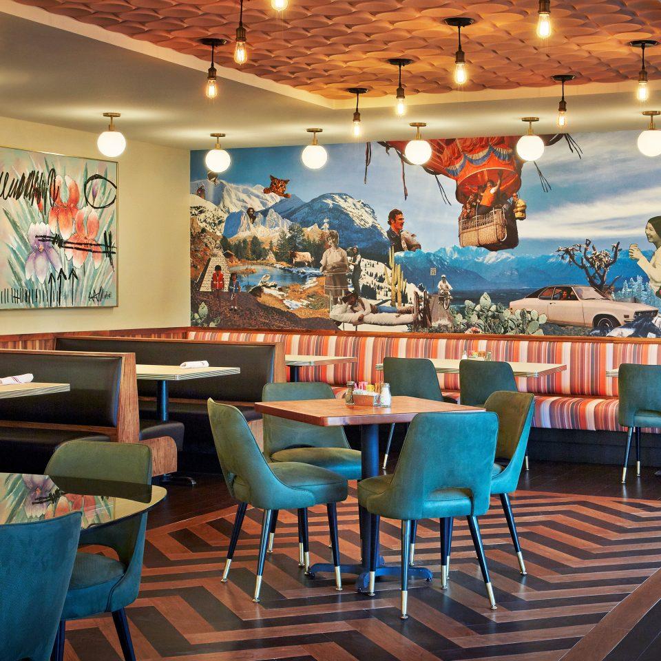 Budget Eat Hip Lounge chair scene restaurant blue Resort