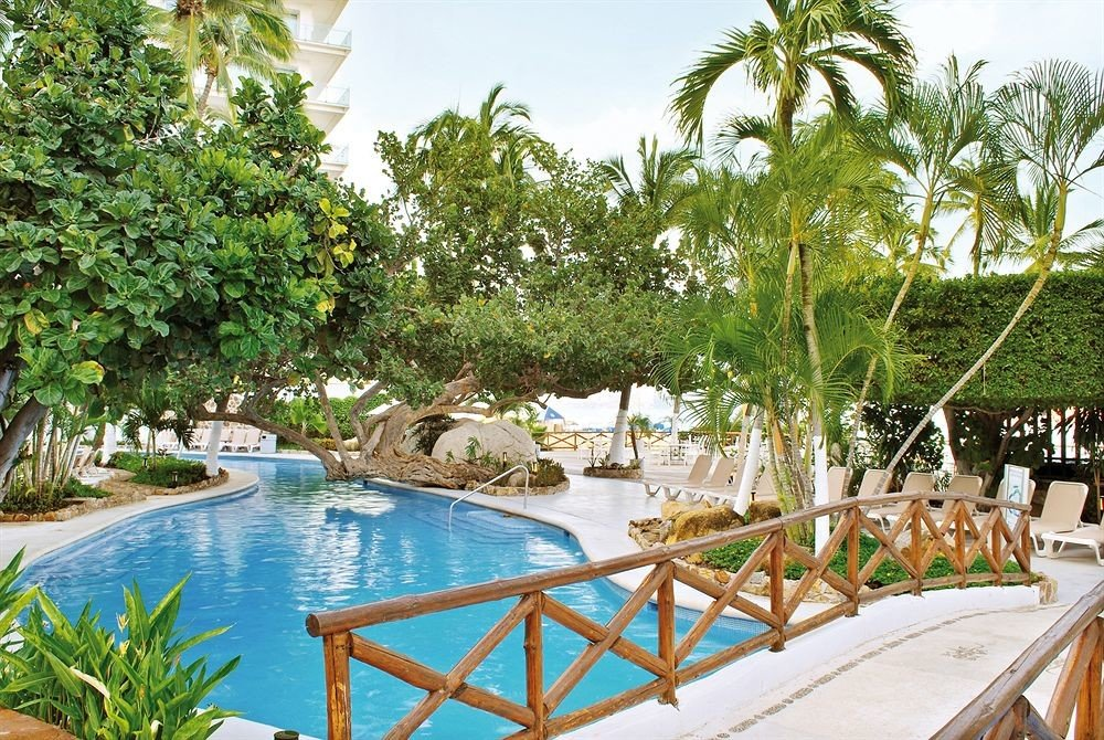 Budget Family Pool Resort Tropical tree water leisure property swimming pool Villa caribbean backyard eco hotel palm lined