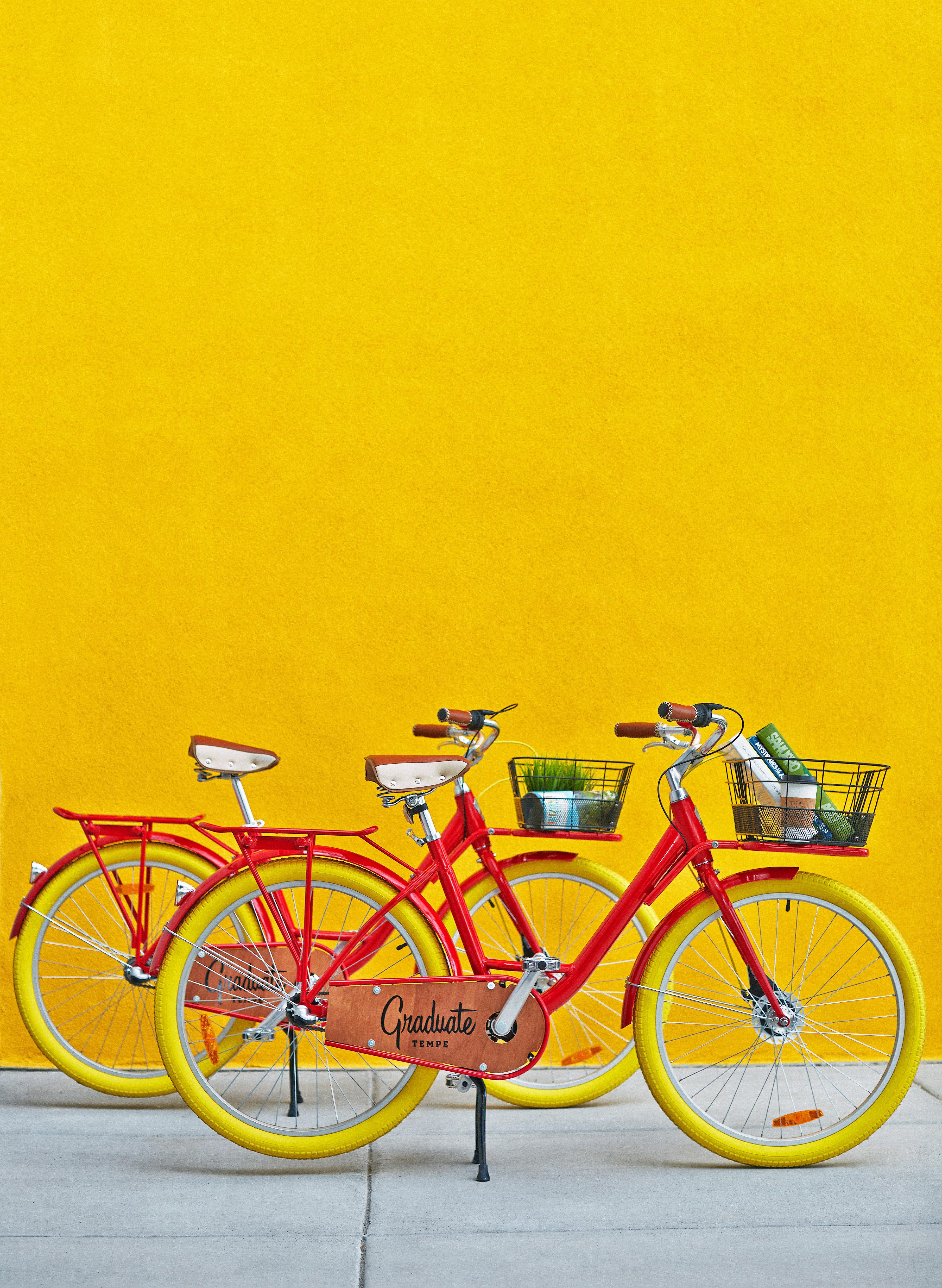Budget Hip bicycle yellow parked color vehicle land vehicle wheel sports equipment transport art orange illustration