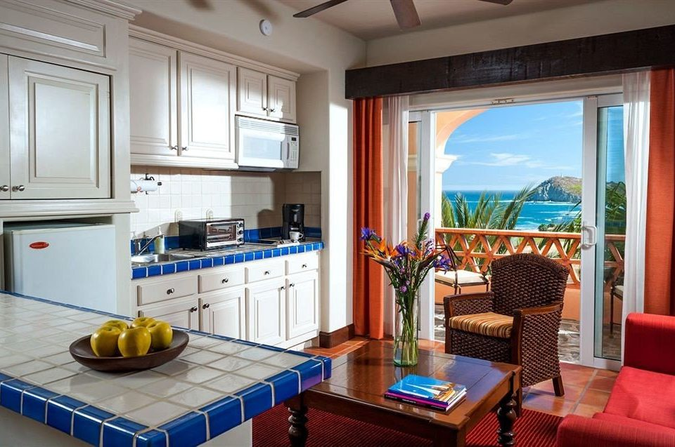 Budget Kitchen Resort Tropical Waterfront property home living room cottage Suite condominium