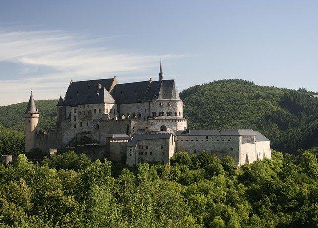 tree sky building castle château fortification monastery