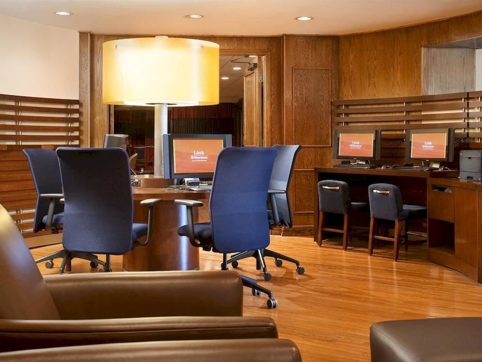 chair conference hall building office waiting room classroom recreation room leather
