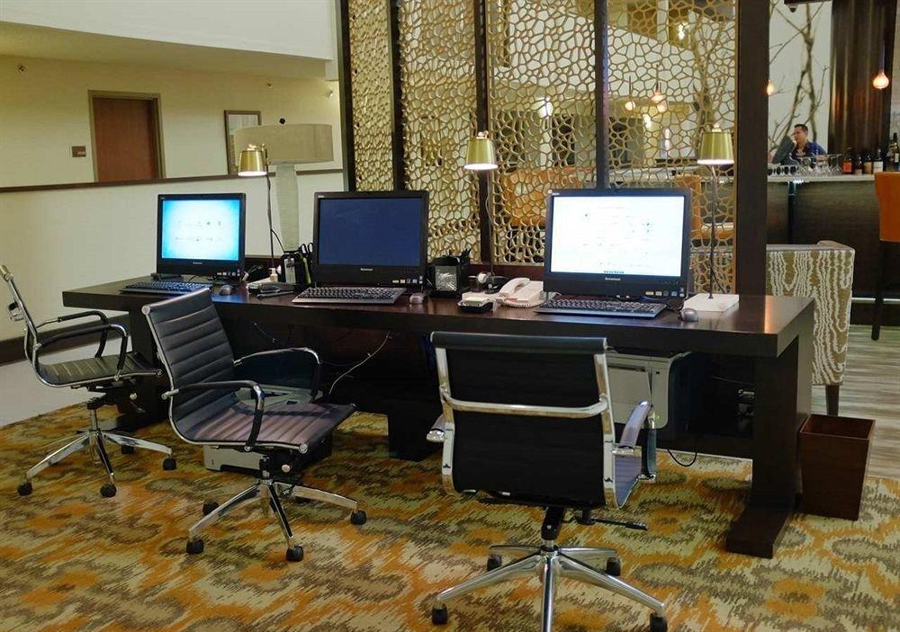 chair computer desk laptop building office