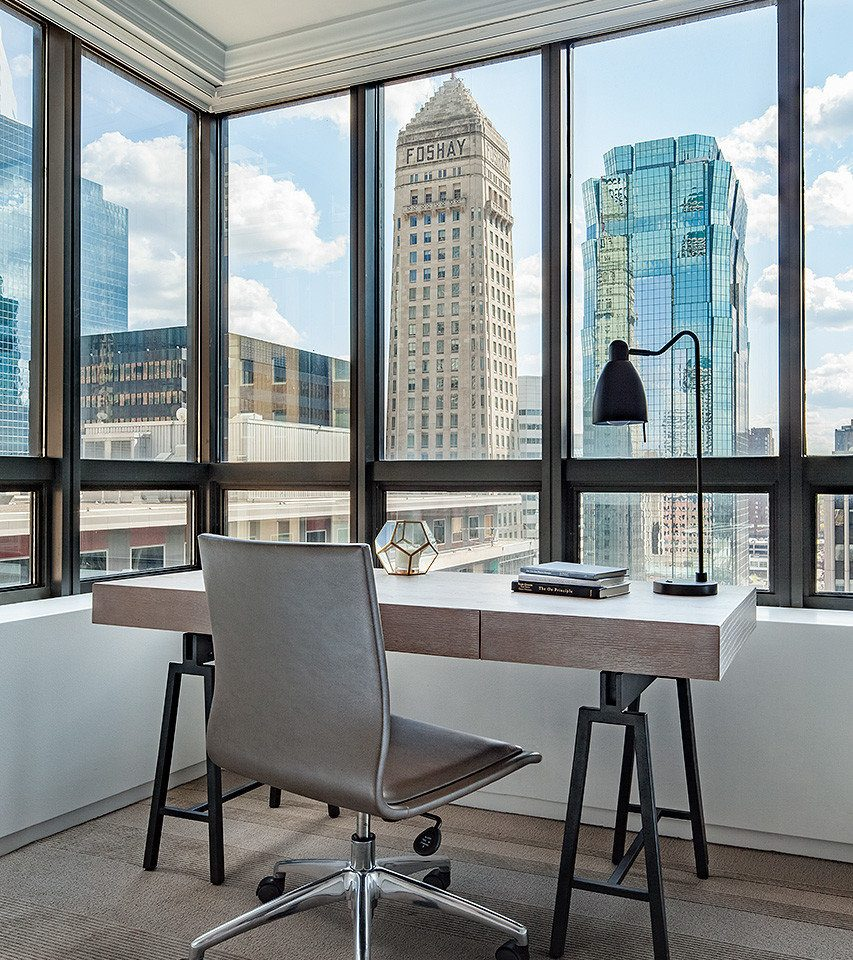 office chair desk daylighting building