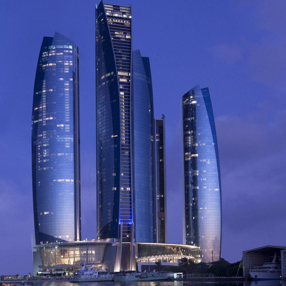 sky skyscraper tower block landmark building metropolis cityscape tower