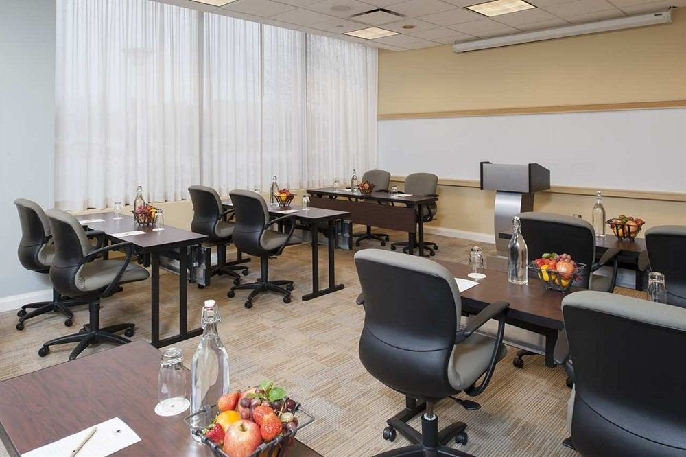 property building conference hall office classroom waiting room cluttered