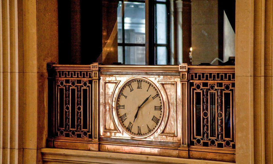 clock building door