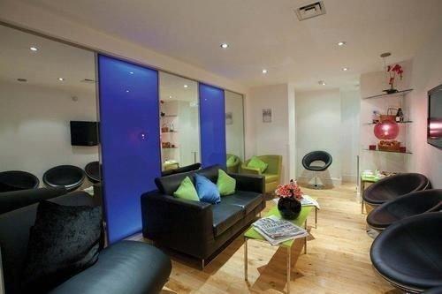 property building condominium living room flat leather