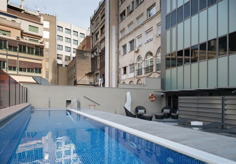building property condominium swimming pool