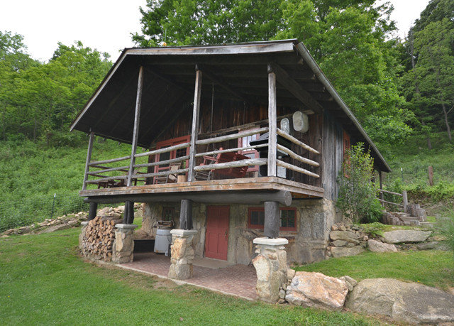 tree grass building hut property log cabin house shack cottage shed outdoor structure stone structure