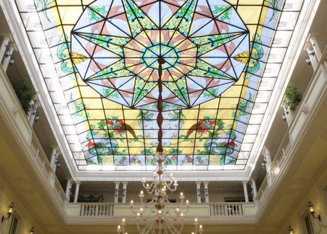 building glass stained glass daylighting material symmetry dome
