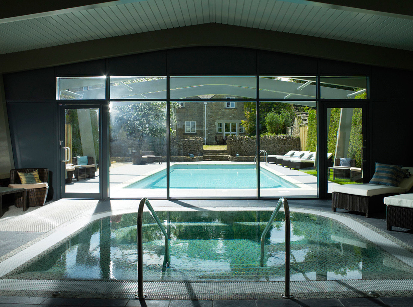 building swimming pool leisure centre daylighting overlooking