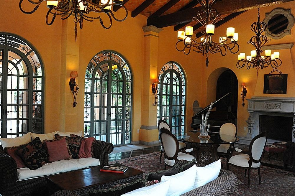 property building home living room hacienda restaurant mansion dining table