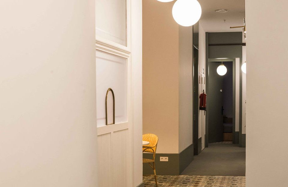 property building hall lighting home door flooring
