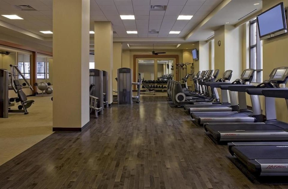 building structure sport venue gym lined flooring long